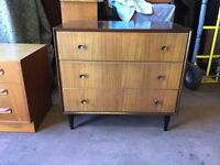 Retro teak 1960's Meredew chest of drawers