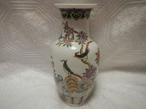 Antique Chinese Porcelain Hand Painted Vase Signed on Bottom