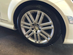 Winter tires and rims for Benz C-class. (2008-2014)