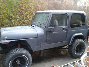 Jeep YJ offroader/toy (Corvette engine)