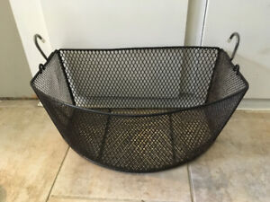 Metal Basket with Hooks