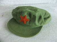 CHINESE COMMUNIST RED STAR GREEN ARMY HAT