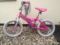 Pink Girls Barbie Bike