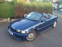BMW 325 CI SPORT CONVERTIBLE TOPAZ BLUE BARGAIN