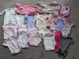Baby girl 0-3 months  17 items mixed lot