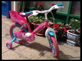 Kids bike - Hello Kitty bike with stabilisers in excellent condition 14""