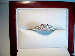 New 1930s-40s Retro Style Diamond Engagement Ring with BONUS!!!