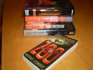 JAMES PATTERSON HARD COVER AND SOFT COVER BOOKS