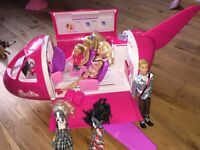 Barbie jet and extras
