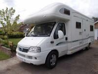 Bessacarr E795 Six Berth Four Seat Belts Over Cab Bed Rear Lounge Ref 11122
