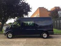 2011 61 FORD TRANSIT 2.4TDCI T350 LWB SEMI HIGH ROOF 115BHP. CREW VAN 6 SEATS. D