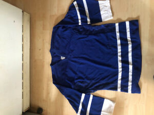 Blue and white xl youth ccm jersey