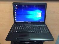 Toshiba Fast HD Laptop, 4GB Ram, 250GB, Quick Start up, Windows 10, Microsoft office, Good Condition