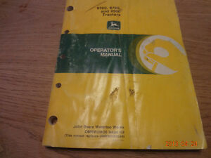 John deere tractor manuals London Ontario image 3
