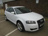AUDI A3 1.6 PETROL MANUAL 3 DOOR WHITE