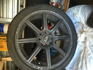 Summer tires and rims REDUCED!! 205/40/17 (4x114.3)and(4x100) London Ontario image 1
