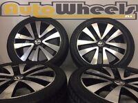 4 used vw golf mk6 alloy wheels & michelin tyres audi caddy skoda seat