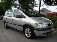 VAUXHALL ZAFIRA 2.0 DTi 16v 2002 7 SEATER COMPLETE WITH NEW M.O.T HPI CLEAR