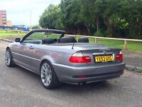 Summer bargain BMW 318ci convertible on LPG gas facelift full leather long MOT