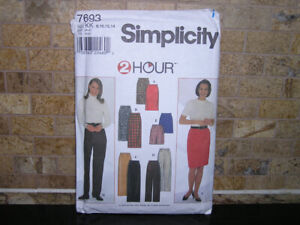Women's Simplicity EASY Straight Skirt & Pants Sewing Pattern