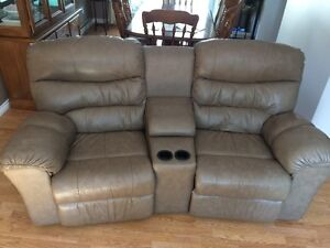Palliser leather recliner couch