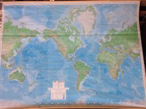 Huge Vintage World Map