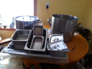 Stanless steel pots and trays