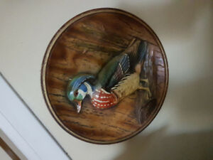Porcelain wood duck wall painting 9