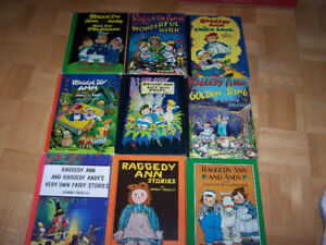 9 RAGGEDY ANN & ANDY hardcover books by Johnny Gruelle