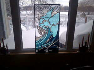 The Wave - stained glass. Price Reduced