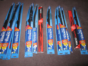Windshield Wipers - New or like new, assorted sizes