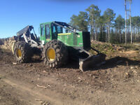 2012 648 JD grapple skidder