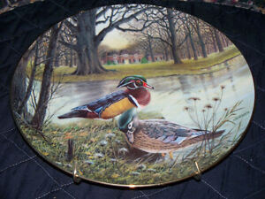 """""""KNOWLES"""" CHINA """"THE WOOD DUCK"""" COLLECTOR PLATE Kawartha Lakes Peterborough Area image 1"""