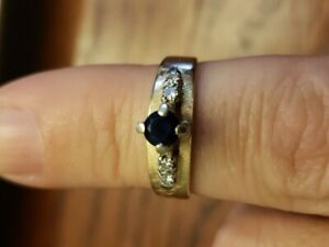 Sapphire and Diamond Ring size 6