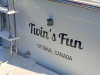 Boat Registration Numbers and Transom Decals