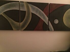 Stunning painted canvas X 3