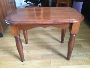 Solid maple table,
