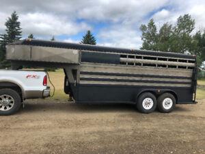 Titan 16' gooseneck stock trailer