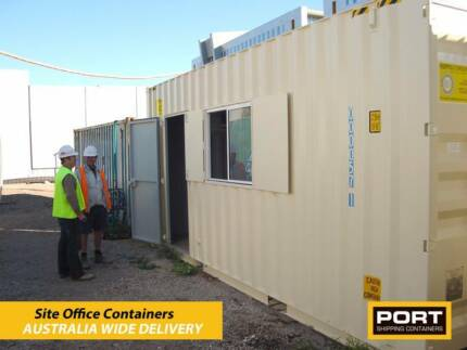 Site Office built from Shipping Container - Donga, Site Shed