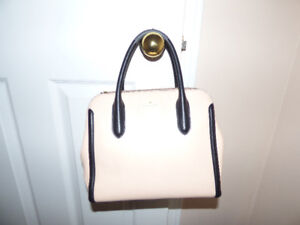 Kate Spade pink and black satchel
