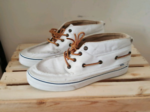 Vans White Boat Shoes - Size 10 Mens -  Pick up only