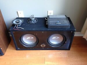 Subwoofers and amp Cambridge Kitchener Area image 1