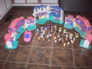 3 Fisher Price Houses and 39 misc pieces
