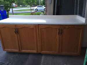 Cabinet unit with countertop