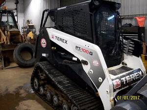 2011 Terex positrack PT100G Forestery with mulcher