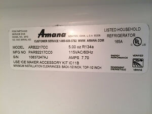 Like New Amana Fridge for sale Cambridge Kitchener Area image 2