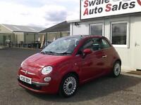 2010 FIAT 500 0.9 TWINAIR LOUNGE,ONLY 32,996 MILES FULL SERVICE HISTORY,FREE TAX