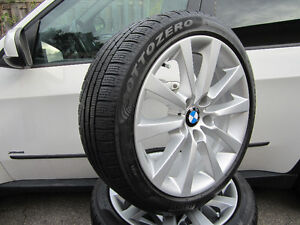 """Authentic OEM 18"""" BMW 3 and 4 series winter snow wheel kit"""