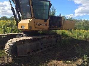 Tigercat 853e feller buncher