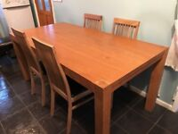 Table with oak chairs